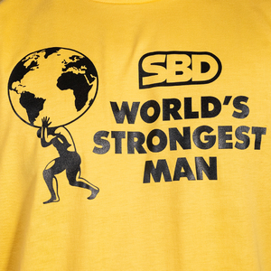 Футболка World's Strongest Man 2021 (жёлтая)